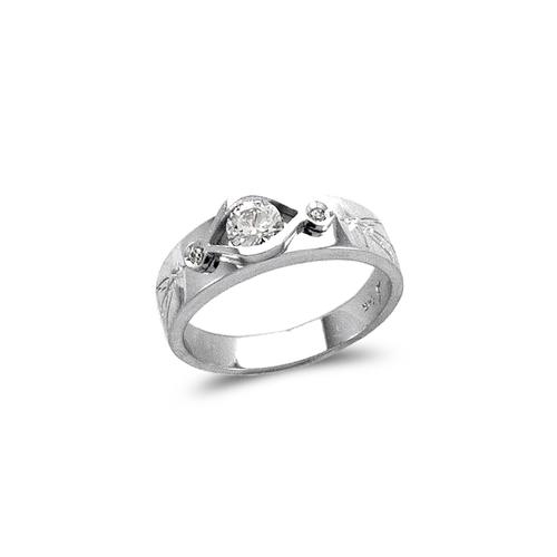 473-128W Ladies Fancy White Couple CZ Ring