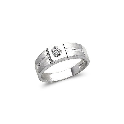 473-130W Ladies Fancy White Couple CZ Ring
