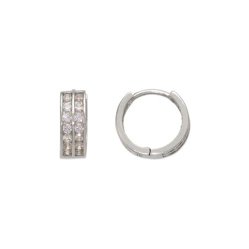 443-053W 10mm Huggie CZ Earrings