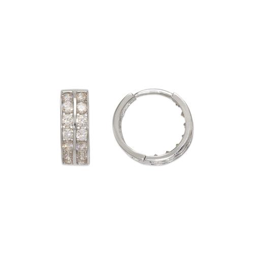 443-054W 12mm Huggie CZ Earrings