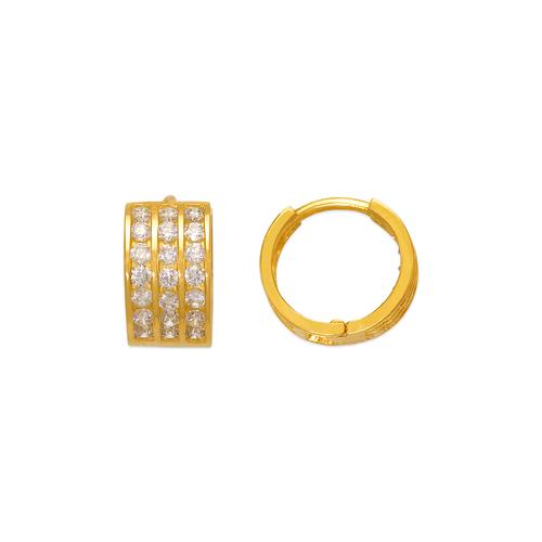 443-055 10mm Huggie CZ Earrings