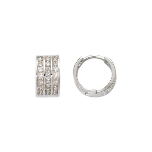443-055W 10mm Huggie CZ Earrings