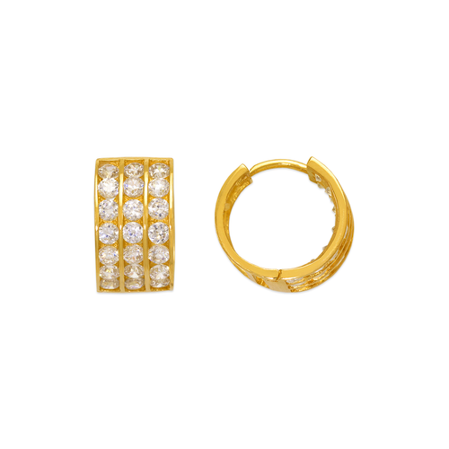 443-056 12mm Huggie CZ Earrings