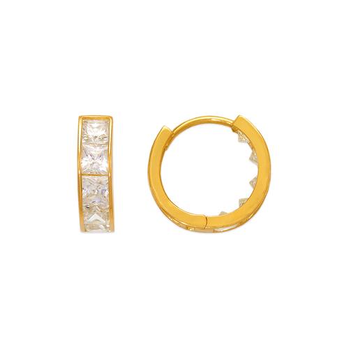 443-059 15mm Huggie CZ Earrings