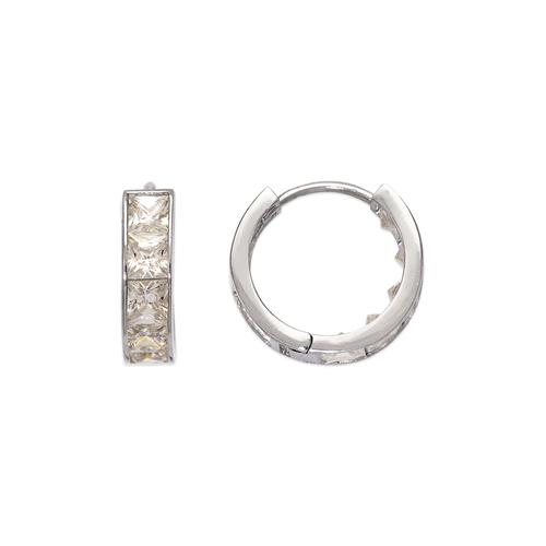 443-059W 15mm Huggie CZ Earrings