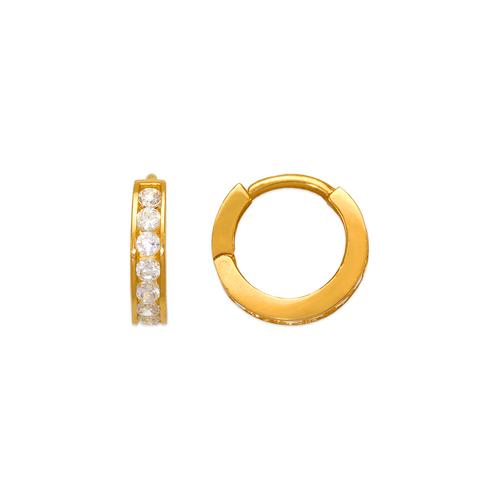443-061 12mm Huggie CZ Earrings