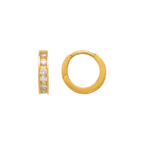 443-062 12mm Huggie CZ Earrings