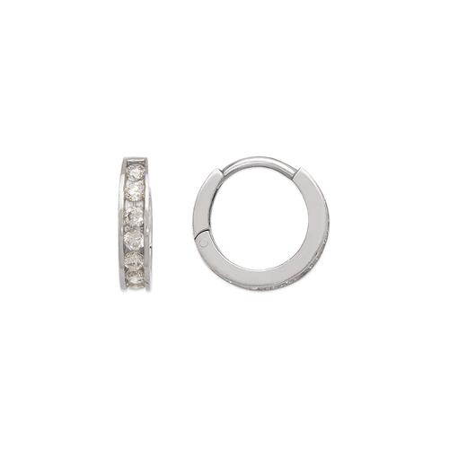 443-062W 12mm Huggie CZ Earrings