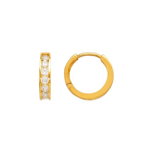 443-063 13mm Huggie CZ Earrings