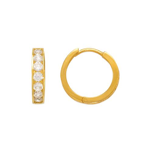 443-065 18mm Huggie CZ Earrings