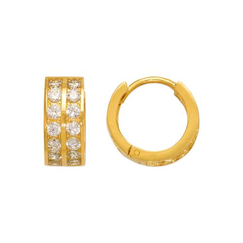 443-066 16mm Huggie CZ Earrings