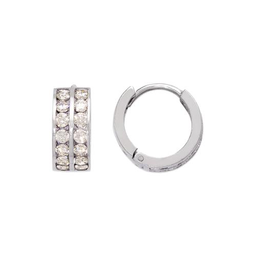 443-066W 16mm Huggie CZ Earrings