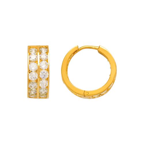 443-067 18mm Huggie CZ Earrings