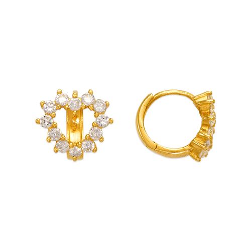 443-101 Fancy Heart CZ Earrings