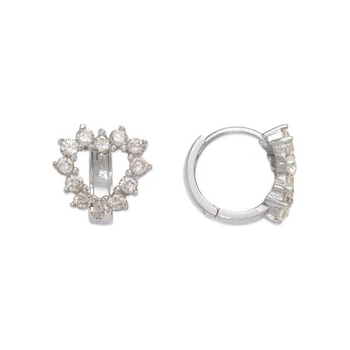 443-101W Fancy Heart CZ Earrings