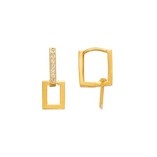 443-102 Fancy Square CZ Earrings