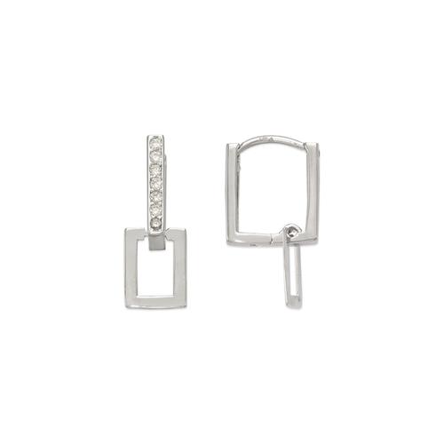 443-102W Fancy Square CZ Earrings
