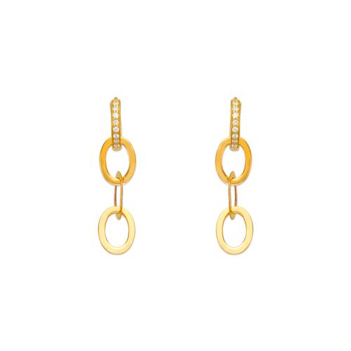 443-106 Fancy Linked CZ Earrings