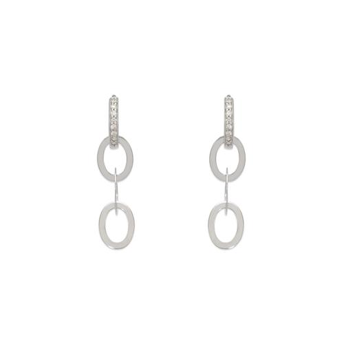443-106W Fancy Linked CZ Earrings