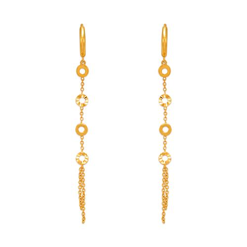 443-108 Fancy Linked Circle CZ Earrings