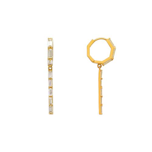 443-109 Fancy Drop Bar CZ Earrings