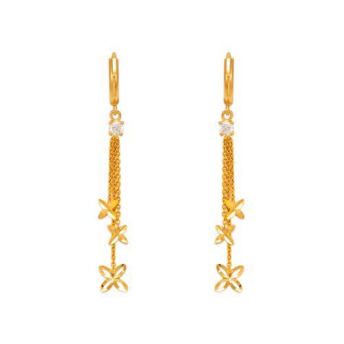 443-110 Fancy Flower CZ Earrings