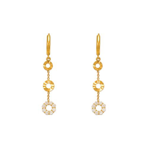 443-112 Fancy Circle CZ Earrings