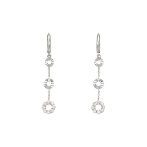 443-112W Fancy Circle CZ Earrings