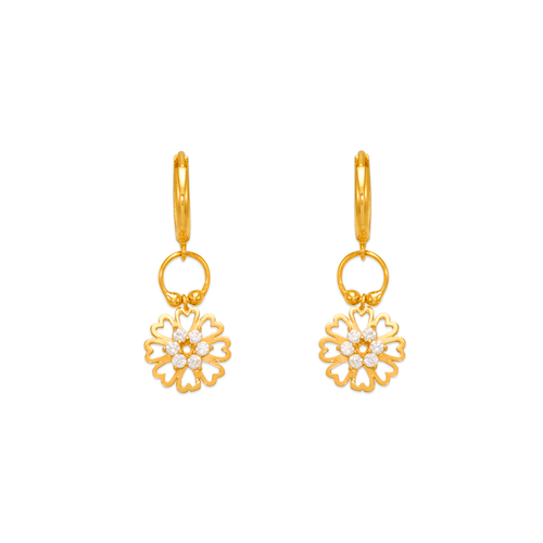 443-117 Fancy Flower CZ Earrings