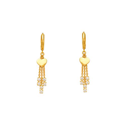 443-119 Fancy Heart CZ Earrings