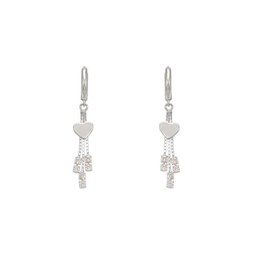 443-119W Fancy Heart CZ Earrings