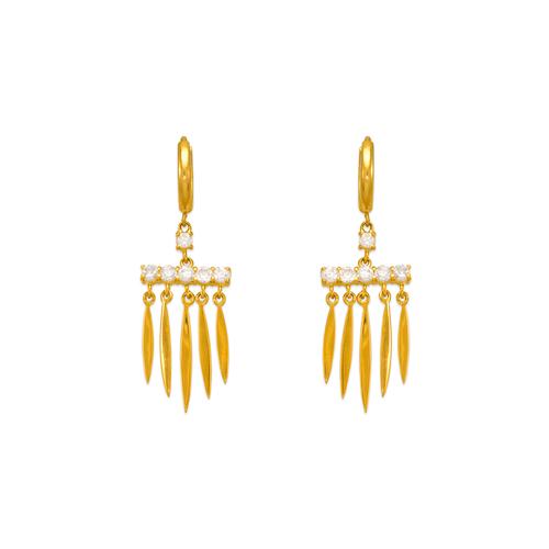 443-120 Fancy Chandelier CZ Earrings