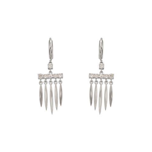 443-120W Fancy Chandelier CZ Earrings