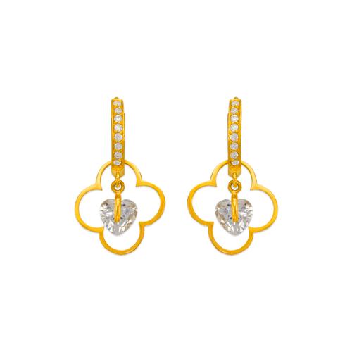 443-121 Fancy Flower CZ Earrings