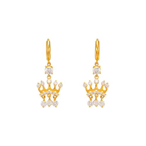 443-128 Fancy Crown CZ Earrings