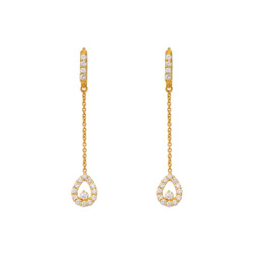 443-137 Fancy Teardrop CZ Earrings