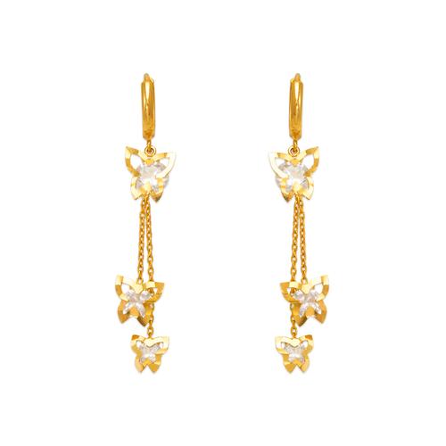443-138 Fancy Double Butterfly CZ Earrings