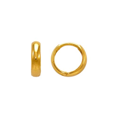 443-613 12mm High Polished Huggie Earrings