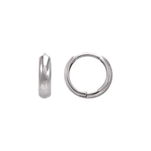 443-613W 12mm High Polished Huggie Earrings