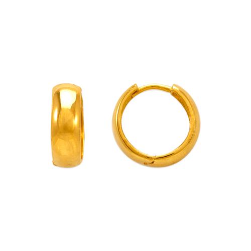 443-614 15mm High Polished Huggie Earrings