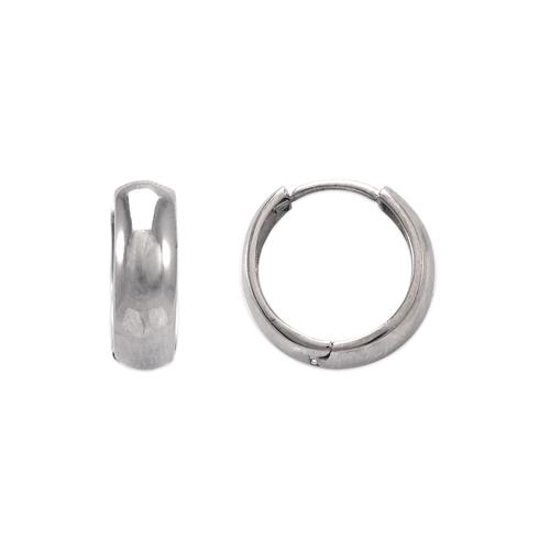 443-614W 15mm High Polished Huggie Earrings