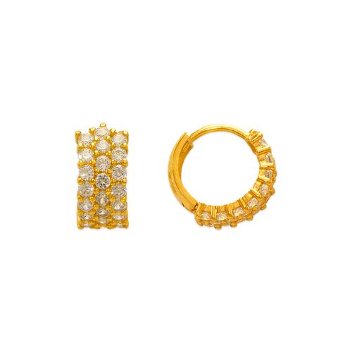 443-617 12mm Fancy Huggie CZ Earrings