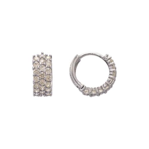 443-617W 12mm Fancy Huggie CZ Earrings