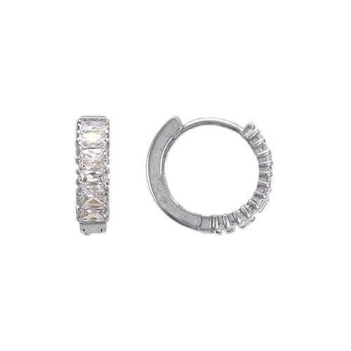 443-619W 16mm Fancy Huggie CZ Earrings