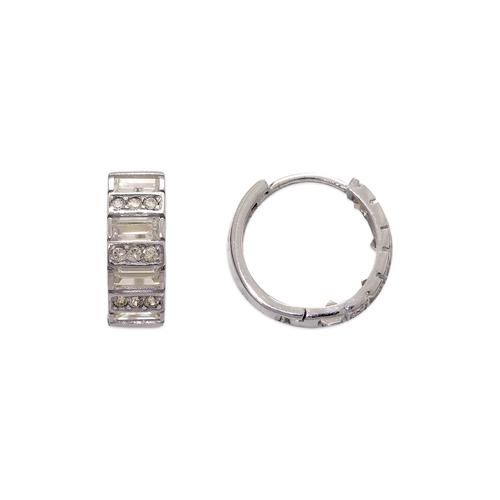443-622W 13mm Fancy Huggie CZ Earrings