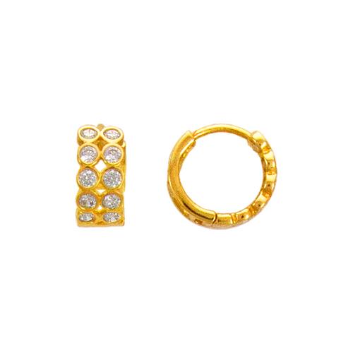 443-623 12mm Fancy Huggie CZ Earrings