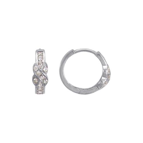 443-624W 16mm Fancy Huggie CZ Earrings