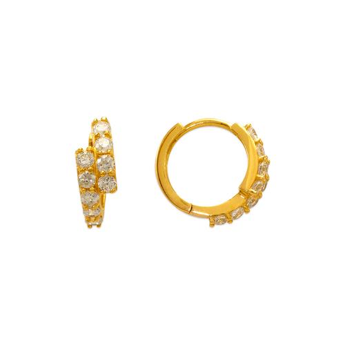 443-628 14mm Fancy Huggie CZ Earrings