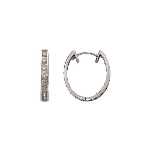 443-629W 16mm Fancy Huggie CZ Earrings