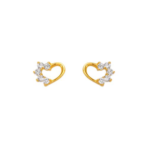 443-409 Heart CZ Stud Earrings